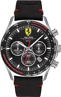 Scuderia Ferrari Mens Chronographe Quartz Montre avec Bracelet en Cuir 830710