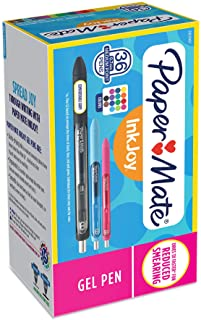 Paper Mate 2003997  InkJoy Gel Pens, Medium Point (0.7mm), Assorted Colors, 36 Count