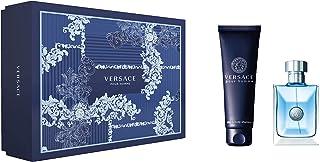 Versace Pour Homme Eau de Toilette Spray and Hair and Body Shampoo Gift Set for Men, Aquatic, 2 ml