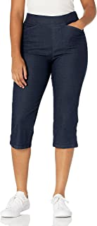 Chic Classic Collection Women's Easy-Fit Elastic Waist Pull-On Capri Pant