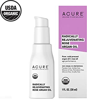 ACURE Radically Rejuvenating Rose Argan Oil | 100% Vegan | Provides Anti-Aging Support | Pure, Cold Pressed & Rich in Vitamin E - Hydrates & Restores | 1 Fl Oz