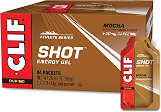 CLIF SHOT - Energy Gels - Mocha Flavor - 50mg Caffeine (1.2 Ounce Packet, 24 Count)
