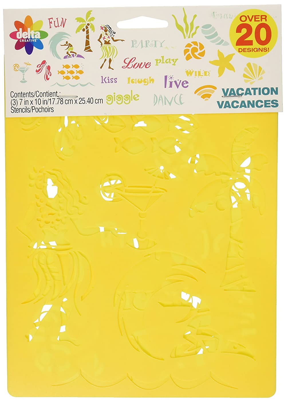Delta Creative Stencil, 7 by 10-Inch, 970990056 Vacation