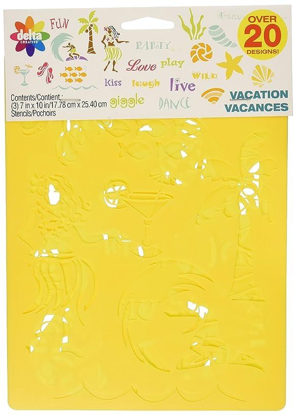 Delta Creative Stencil, 7 by 10-Inch, 970990056 Vacation