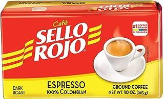 Cafe Sello Rojo Espresso | Best selling coffee brand in Colombia | 100% Colombian dark roast ground arabica coffee | Premium Cuban Expresso Coffee type | Freshly vacuum packed in bricks(Brick)