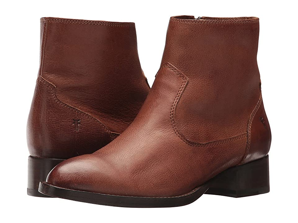 Frye Brooke Short Inside Zip (Cognac) Women