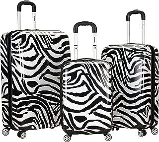 Luggage 3 Piece Upright Set, Zebra, Medium