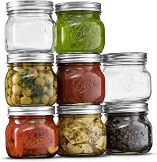 Ball Wide Mouth Mason Jars 16 oz [8 Pack] with Airtight lids and Bands. For Canning, Fermenting, Pickling, Decor - Freezin...