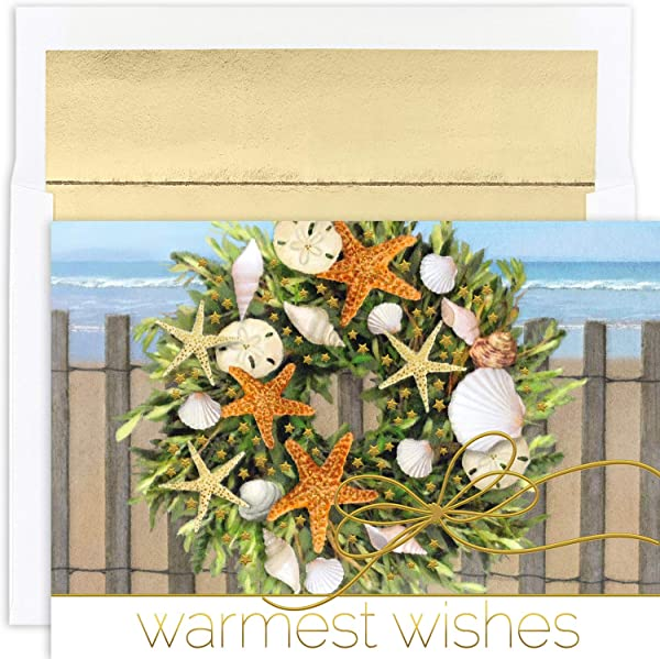 Masterpiece Warmest Wishes 18 Count Christmas Cards Warm Wishes Wreath