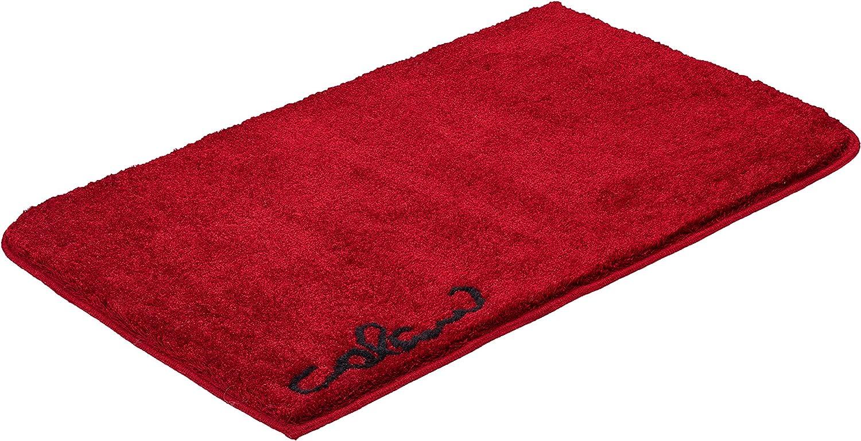 Grund COLANI Exklusiver Designer Badteppich 100% Polyacryl, ultra soft, rutschfest, KO-TEX-zertifiziert, 5 Jahre Garantie, Colani 40, Badematte 60x100 cm, rot