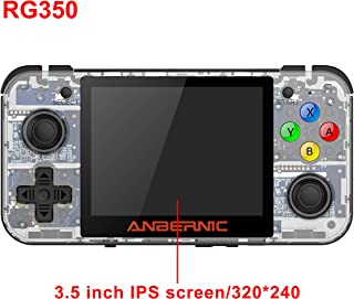 Handheld Game Console , RG350 Retro Game Console OpenDingux Tony System , Free with 32G TF Card built-in 2500 Classic Game Console 3 Inch IPS Screen Portable Video Game Console - Transparent White