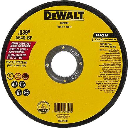 Disco de Corte, DeWalt, DW8062, Amarelo