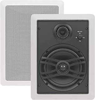 Yamaha NS-IW660 3-Way In-Wall Speaker System for Custom Install, White