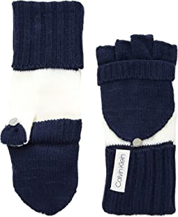 Color Block Flip Top Gloves
