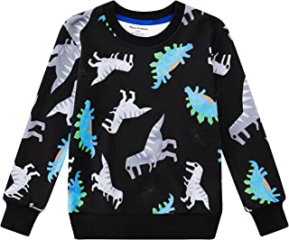 Tkala Fashion Toddler Boys Long Sweatshirts 3T- 8 Years Old Kids Winter Pullover T-Shirts Children Cotton Outdoor Tops