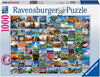Ravensburger 19371 99 Beautiful Places On Earth, 1000pc Jigsaw Puzzle, Multicoloured