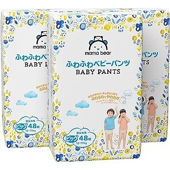 【パンツ ビッグサイズ】Mama Bear (ママベアー) ふわふわベビーパンツ (12~17kg) 144枚(48枚×3パック) [ケース品] [Amazonブランド]