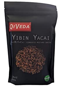 QiVeda Premium Yibin Ya Cai | Sui Mi Ya Cai | Preserved Vegetable (Fermented Mustard Sprouts) | 400g (14oz)