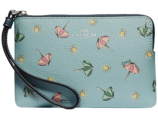 COACH Beach Umbrella Print Corner Zip