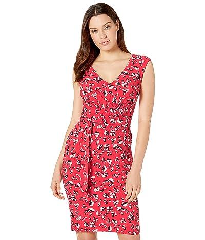 LAUREN Ralph Lauren Raminka Blythe Floral Dress (Summer Poppy/Lighthouse Navy/Colonial Cream) Women
