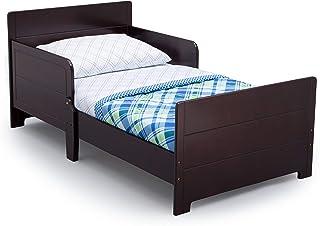 Delta Children MySize Toddler Bed with Guardrails, Dark Chocolate, Kids Furniture (BB87160GN-207)