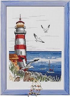 Permin Stickpackung Stickbild Leuchtturm, gezählter Kreuzstich