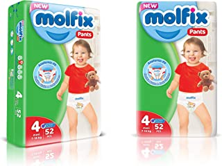 Molfix Anti Leakage Comfortable Maxi Baby Diaper Pants, 9-14 kg, 52 Count (5054276)