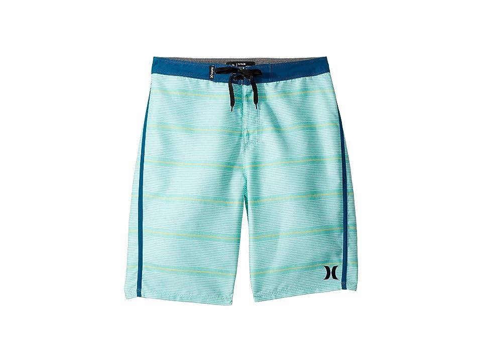 Hurley Kids Shoreline Boardshorts (Big Kids) (Green Glow) Boy