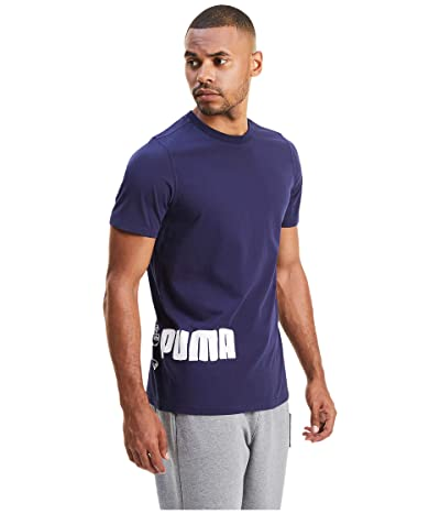 PUMA Franchise Graphic T-Shirt (Peacoat) Men