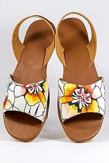 AESCA Womens Ligaya Slingback Sandals Handmade Tropik Flats Summer Shoes