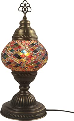 Amazon.com: Marrakech Turkish Table Lamp Handmade Mosaic ...