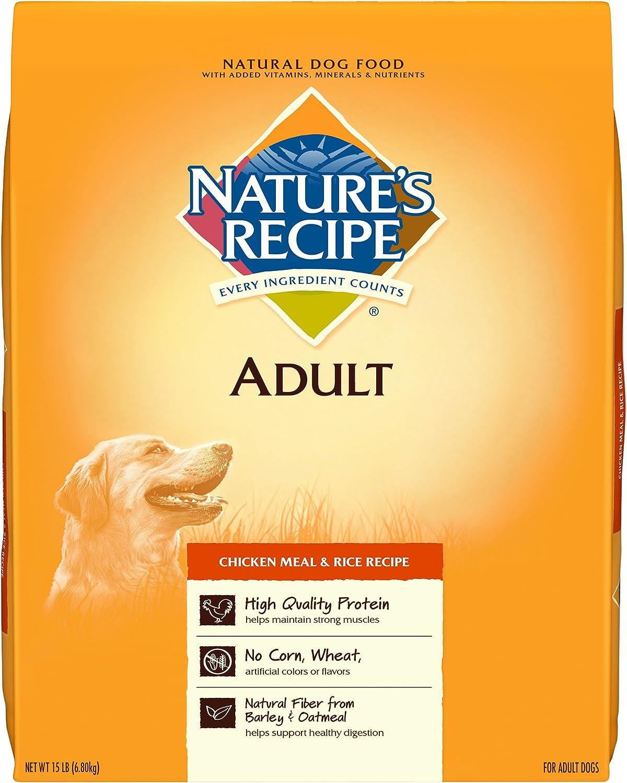 Ricetta della natura Adulti Dog Food Dry,  cken Meal *Ricetta, 15Pound