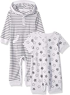 Little Me Baby Girls 2 Pack Coverall and Romper