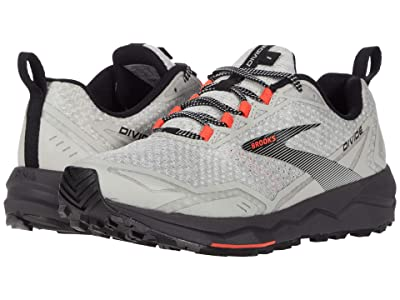 Brooks Divide (White/Grey/Fiery Coral) Women