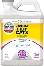 Purina Tidy Cats LightWeight Glade Tough Odor Solutions for Multiple Cats Clean Blossoms Clumping Dust Free Cat Litter - (2) 8.5 lb. Jugs