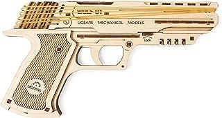 UGEARS Mechanical Wooden 3D Model Wolf-01 Handgun Construction Set