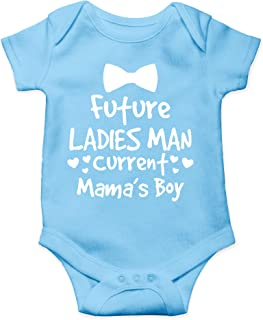 Future Ladies Man, Current Mama's Boy - I Love My Mommy - Cute One-Piece Infant Baby Bodysuit