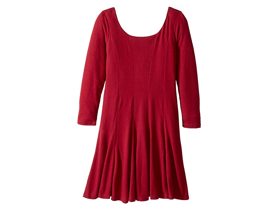fiveloaves twofish The Traveler Dress Knit (Big Kids) (Cranberry) Girl