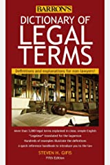 Dictionary of Legal Terms: Definitions and Explanations for Non-Lawyers Kindle Edition