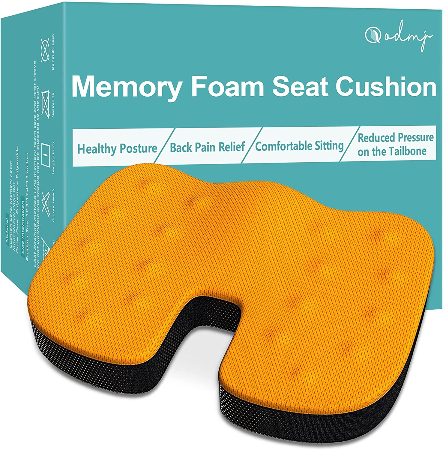 Memory Max Japan Maker New 61% OFF Foam Seat Cushion for ODMJ Coccyx Chair Cush Office