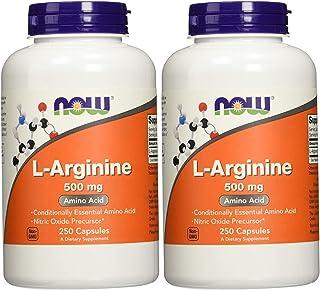 NOW Foods L-Arginine 500mg, Jumbo Size Pack 500-(500mgCapsules)