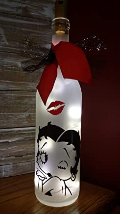 Betty Boop Wine Bottle Decoration Gift Glass