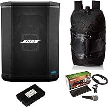 Bose S1 Pro - Sistema de altavoces Bluetooth con batería, mochila Bose S1 Pro, micrófono Shure PGA48, cable de audio XLR de 15 pies (7 artículos)