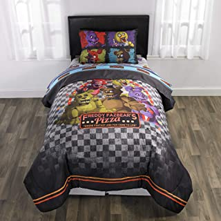 Five Night's at Freddy's 5 Piece Full size Bedding Set - Includes 4pc Full Sheet Set and 1 T/Full Comforter