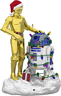 Hallmark Keepsake Christmas 2019 Year Dated Star Wars C-3PO and R2-D2 Peekbuster Motion-Activated Sound Ornament, C3PO and...