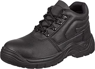 Mens Safety Work Boots With Steel Toe Cap & Midsole Size