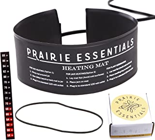 Prairie Essentials 3x20 Inch Strip Wrap Around Heating Pad Warming Heat Mat & Thermometer for Kombucha Tea & Beer Brewing, Fermentation, Seedlings & Plant Germination (1, 3