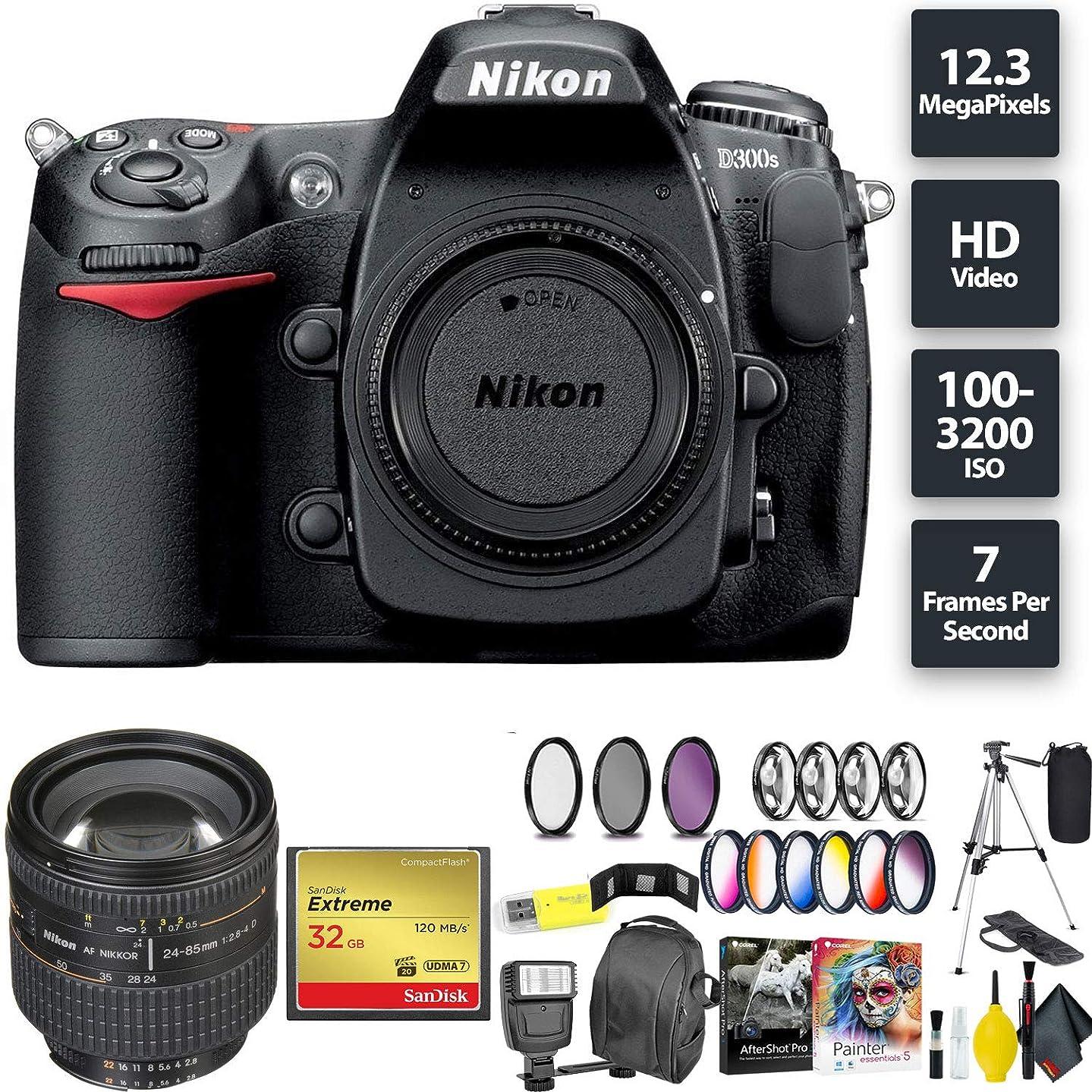 Nikon D300S DSLR Camera (Body Only) + 32GB Memory Card + Nikon 24-85mm Lens Zoom Combo International Model