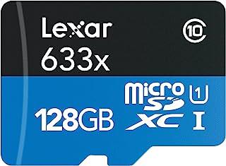 Lexar High-Performance microSDXC 633x 128GB UHS-I/U1 w/USB 3.0 Reader Flash Memory Card (Old Packaging) LSDMI128BBNL633R