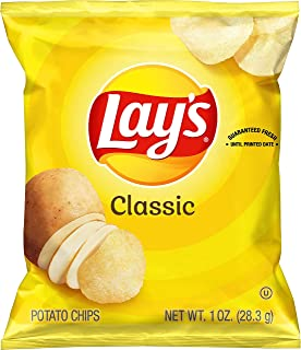 Lay's Classic Potato Chips, 1 oz (Pack of 40)